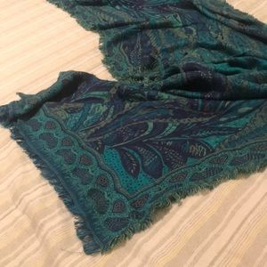 Beautiful Long Blanket Scarf in Gorgeous Blues